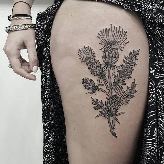 15 Thorny Thisle Tattoos
