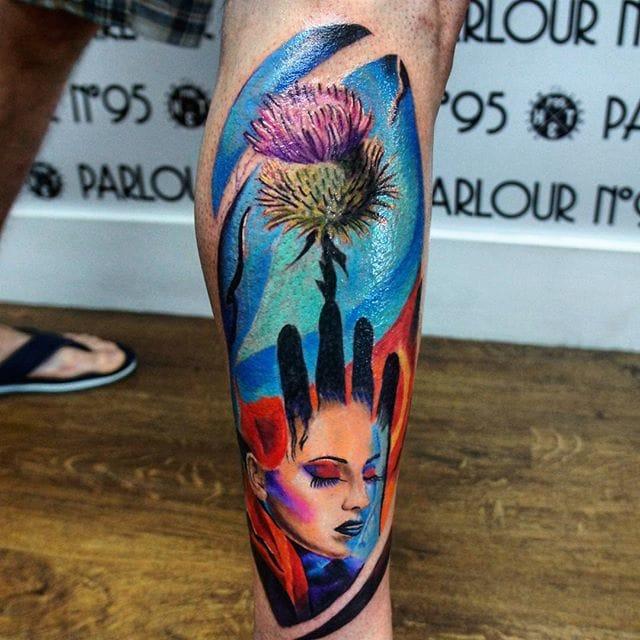Colorful piece by Jacek Silk.