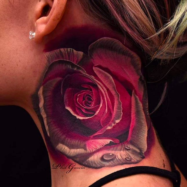 Neck rose by the master of realism, Phil Garcia. Photo from Instagram @philgarcia805.