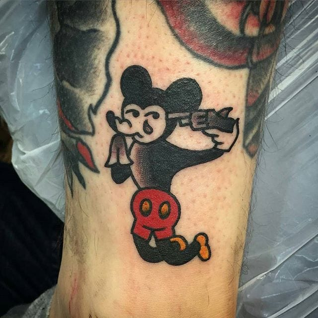 Sucicidal Mickey Mouse Tattoo by David Simpson