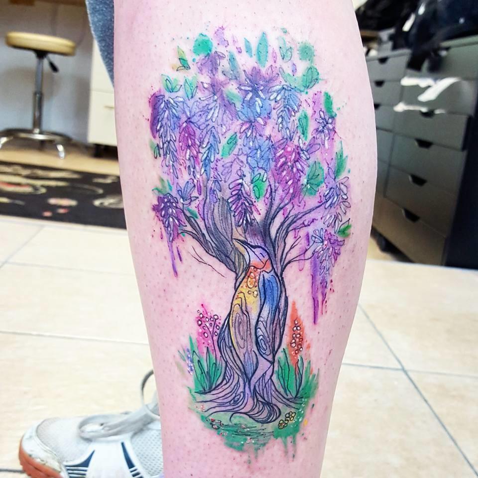 Stunning tree tattoo. Photo from Joanne's Instagram @milky_tattoodles.