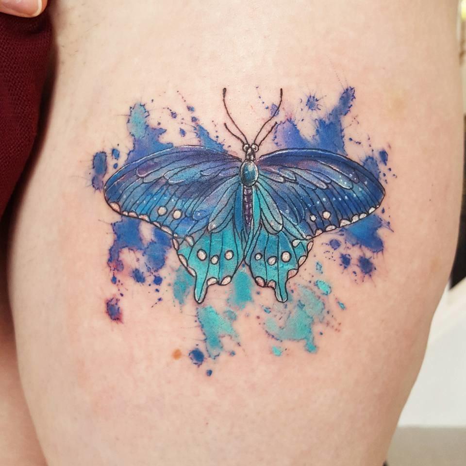 Butterfly tattoo. Photo from Joanne's Instagram @milky_tattoodles.