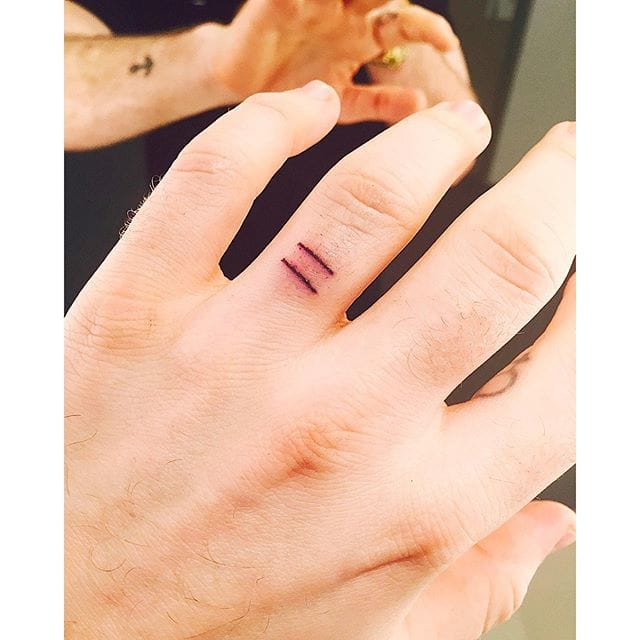 First tattoo of equality sign, photo: Instagram @samsmithworld