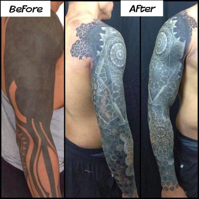 Amazing cover-up by Nathan Mould from Artisan Pittsburgh!