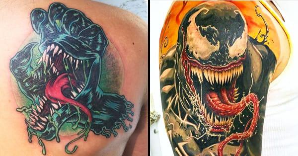 Venom Tattoo Designs: 25 Kickass Venom Tattoos
