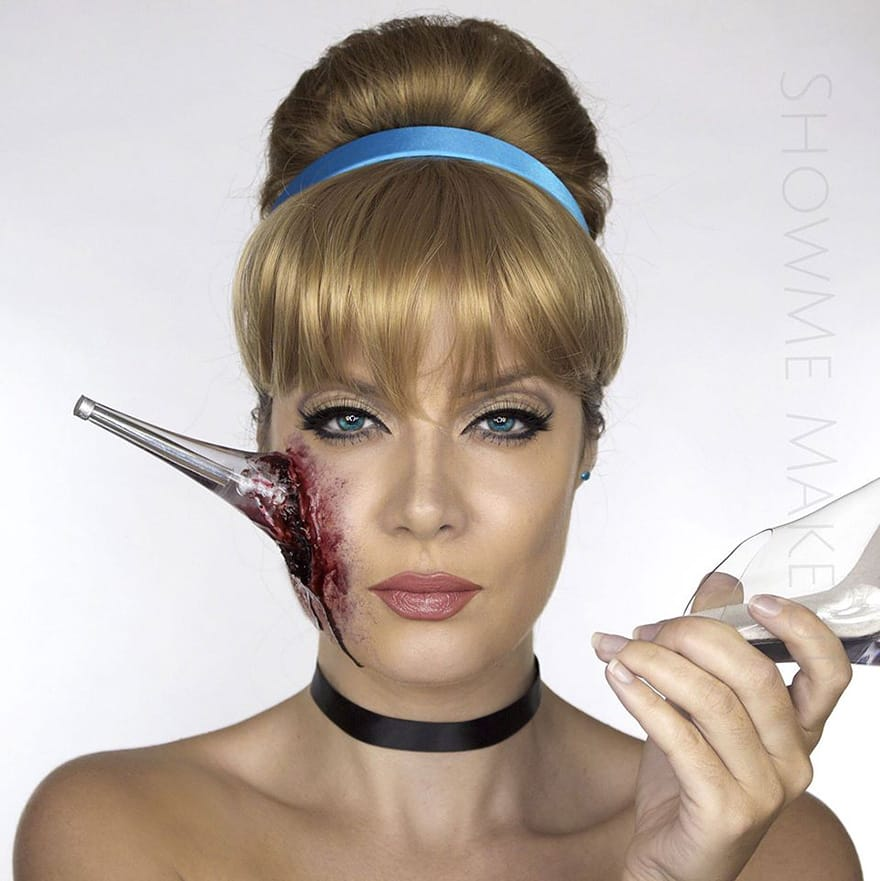 Makeup Artist Turns Herself Into Disney Princesses With Tragic Endings
