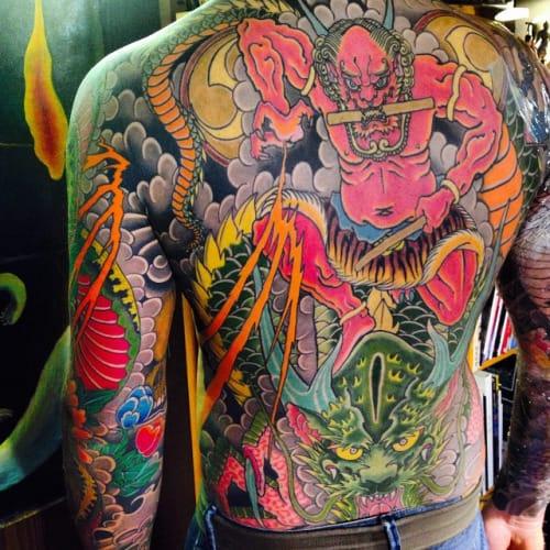 12 Thunderous Raijin Tattoos