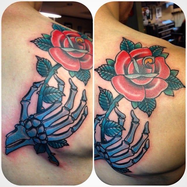Skeleton Hand Tattoo by Scott Smith