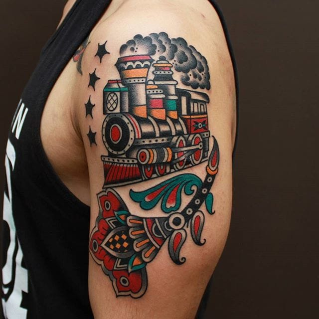 Train Tattoo by Vic James