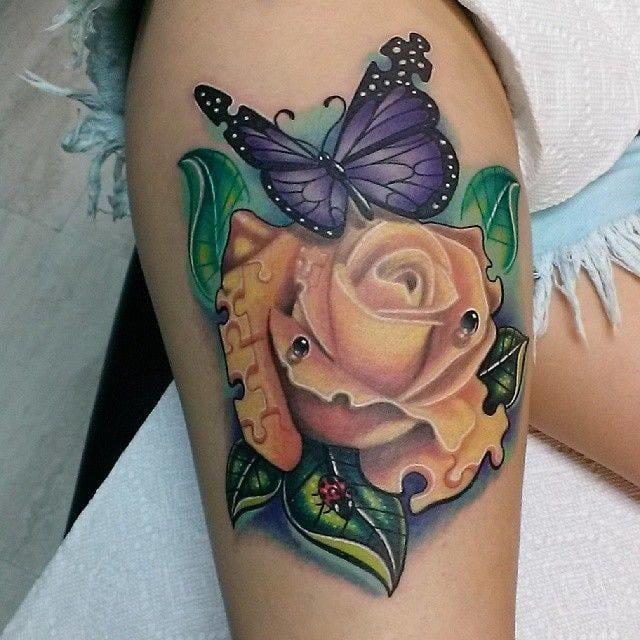 Some morphing ideas here too with these puzzle rose and butterfly. By Cory Salls.