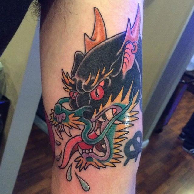 8 Imaginative Panther-Dragon Tattoos And Flash!