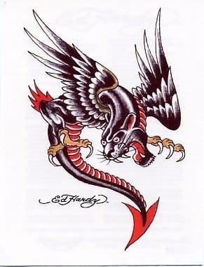 Ed Hardy Panther Dragon Tattoo Design