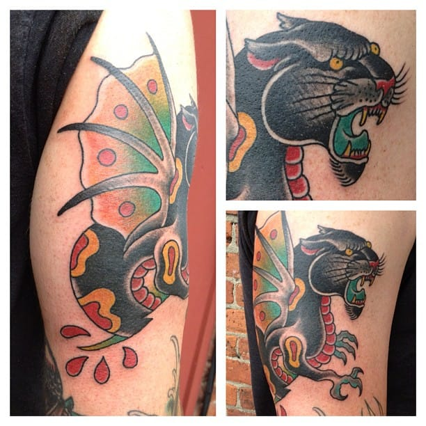 Panther Dragon Tattoo by Marion Street Tattoo Denver