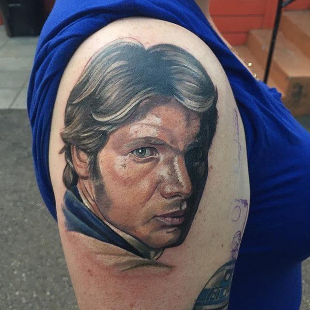 Han Solo Tattoo by Alonzo Villa
