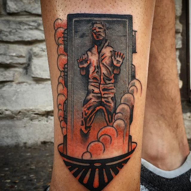 Brilliant Han Solo Tattoo by Ian Bederman