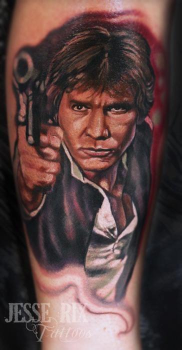 Great Han Solo Tattoo by Jesse Rix