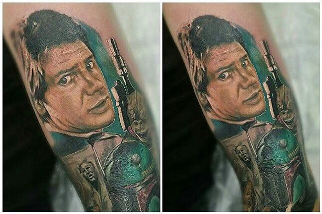 Han Solo Tattoo by Set Sail Tattoo Studio