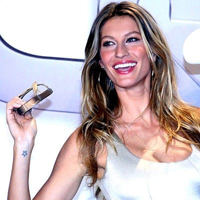 7. Gisele Bündchen has a tiny star tattoo on her wrist in honor of her grandmother
