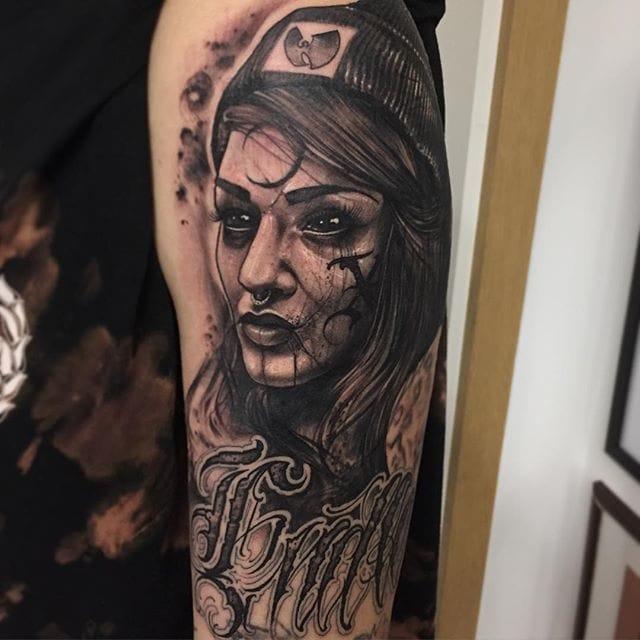 A portrait of a client's wife