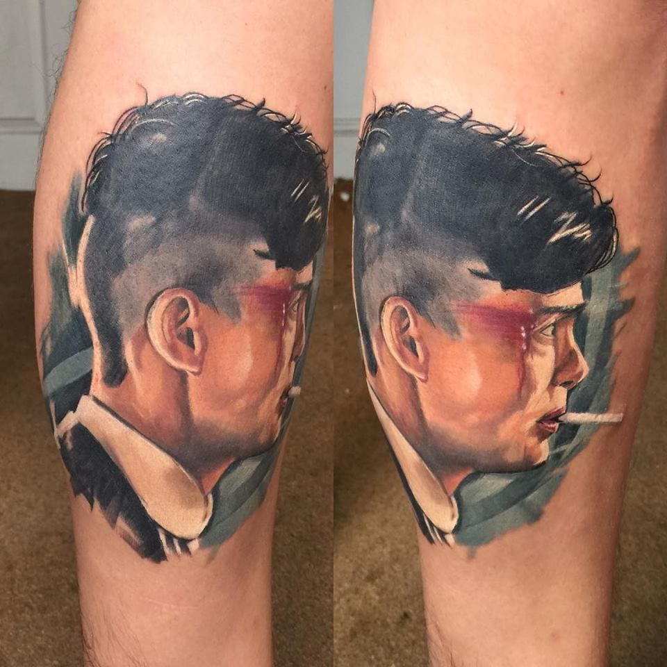 Peaky Blinders Thomas Shelby Tattoo by Mat Lapping