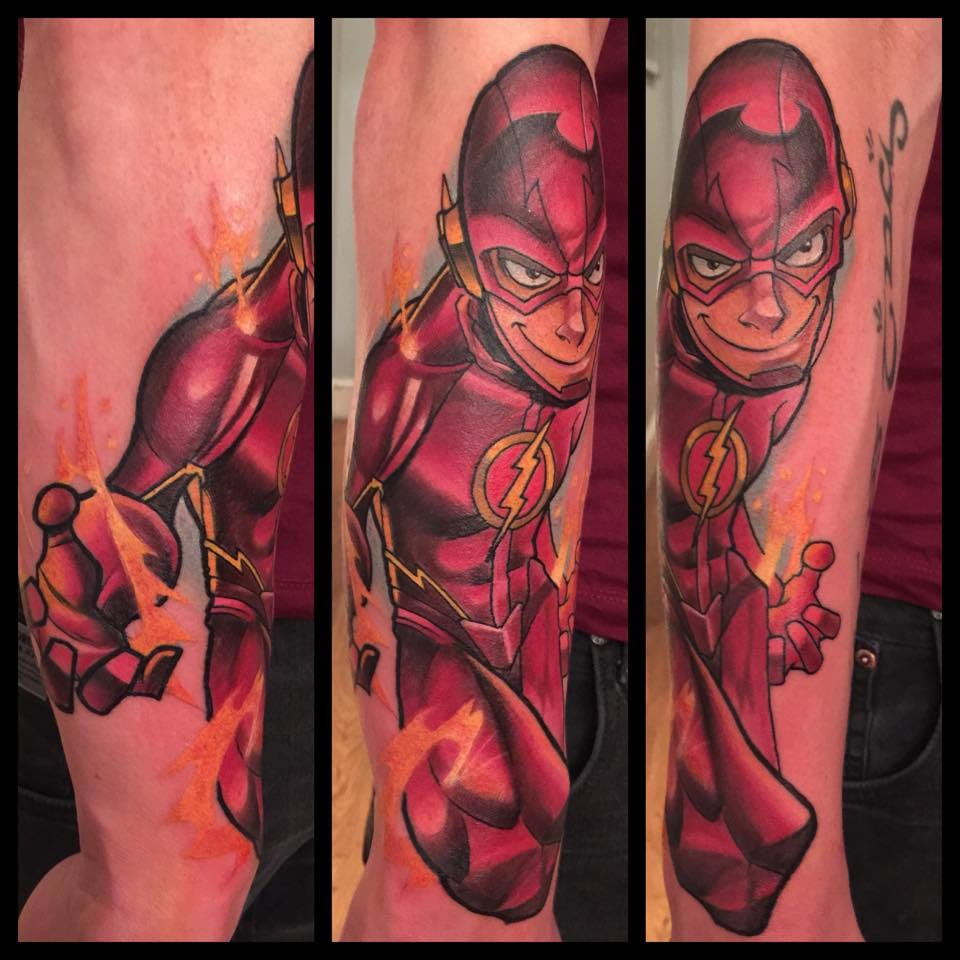 The Flash Tattoo by Mat Lapping
