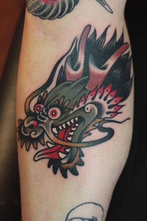 18 vibrant traditional dragon tattoos tattoodo. Black Bedroom Furniture Sets. Home Design Ideas