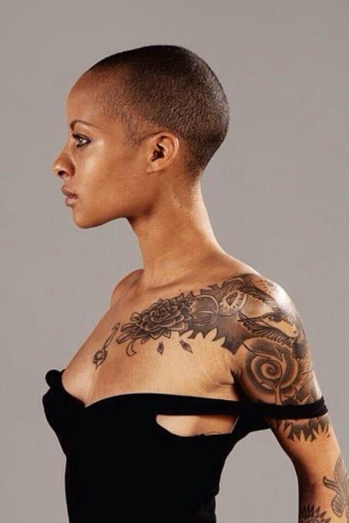 30 beautiful tattoos on dark skin tattoodo for Tattoo sleeve for dark skin