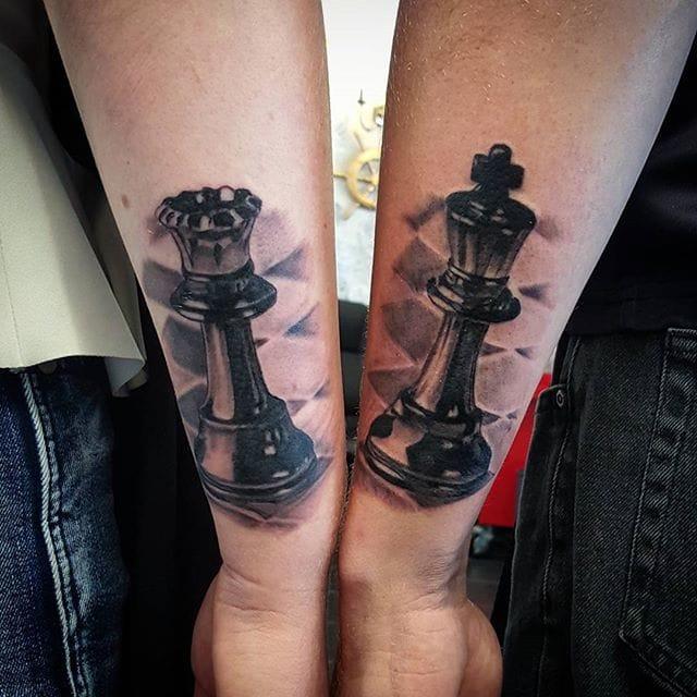 18 Classy Chess Piece Tattoos | Tattoodo