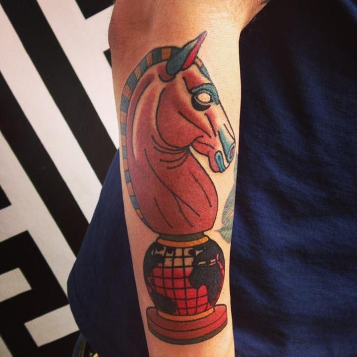 Chess Piece Tattoo by Adrian Edek