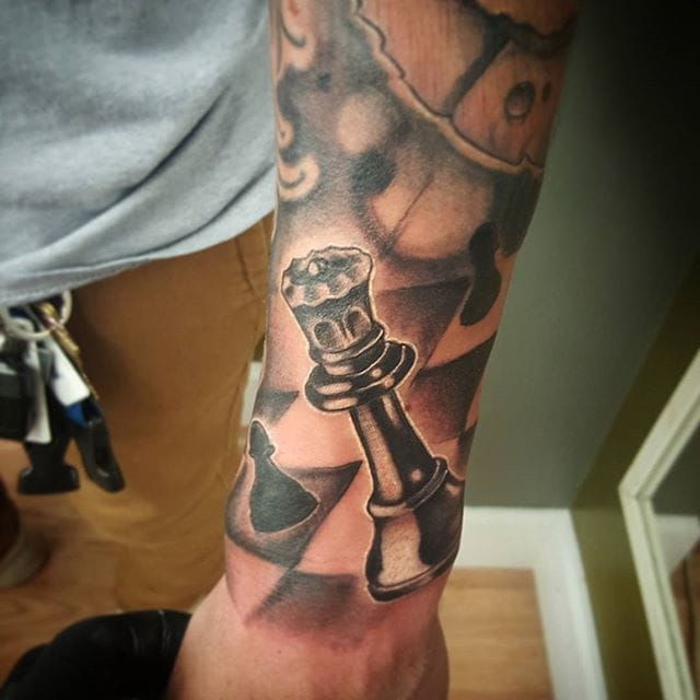 Chess Piece Tattoo by Alfredo Nogales