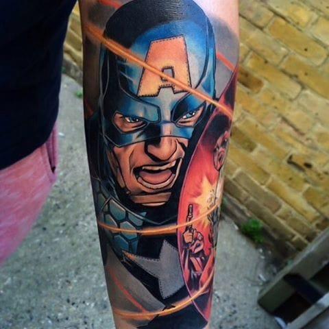 20 Patriotic Captain America Tattoos