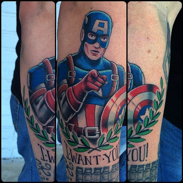 Traditional Style Captain America by Blake Chambers