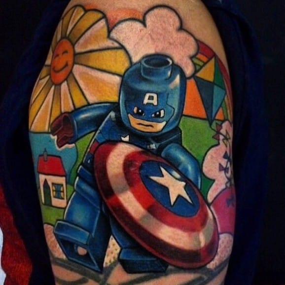 Lego Captain America by Jordan Baker