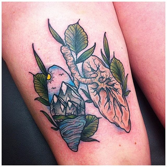 Nature Lung Tattoo by Lucky Devil Barrie