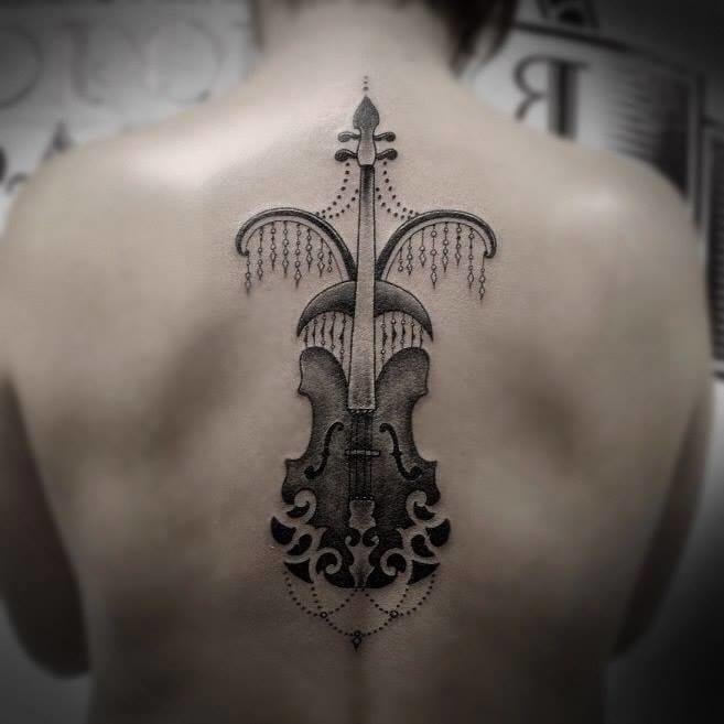 16 Enchanting Violin Tattoos