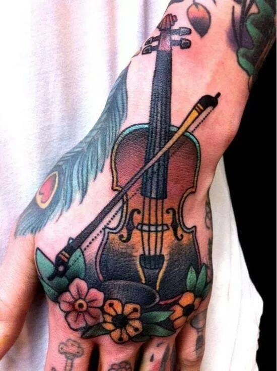 Cool hand tattoo by J. Madberg.