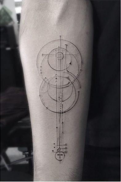 Minimalistic and geometric violin by Dr Woo.