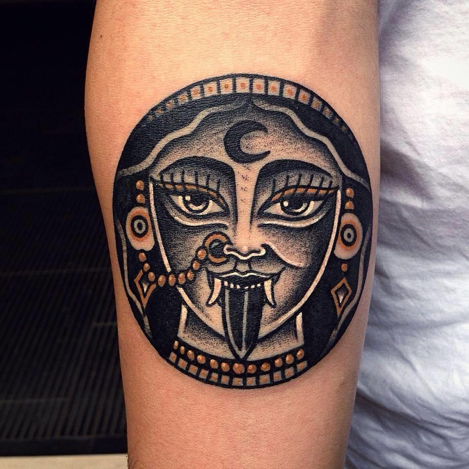 fun Kali tattoo by Vinz Flag