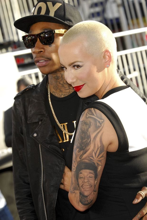 1. Amber Rose - Wiz Khalifa's celebrity portrait tattoo