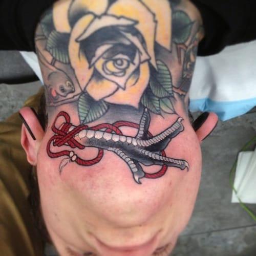 Claw Chin Tattoo by Dan Molloy