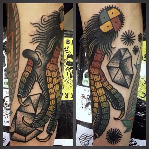 Bold Claw Tattoo by Giacomo Sei Dita
