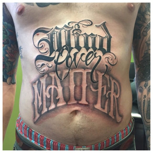 """Mind Over Matter"" Tattoo by BJ Betts"