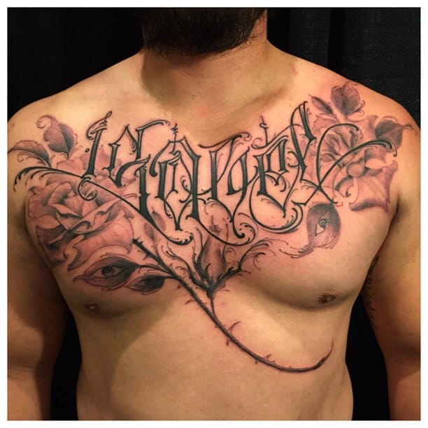 Beautiful chest piece done by BJ Betts