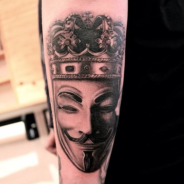 V For Vendetta Mask Tattoo 15 Free V For V...