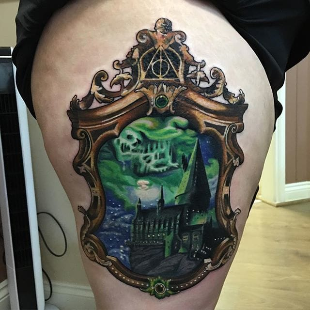Brilliant Hogwarts Tattoo by Ashlea Dyson