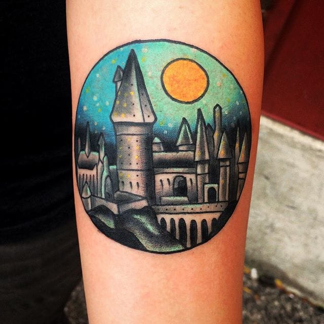 Hogwarts Tattoo by Alexis Colombo