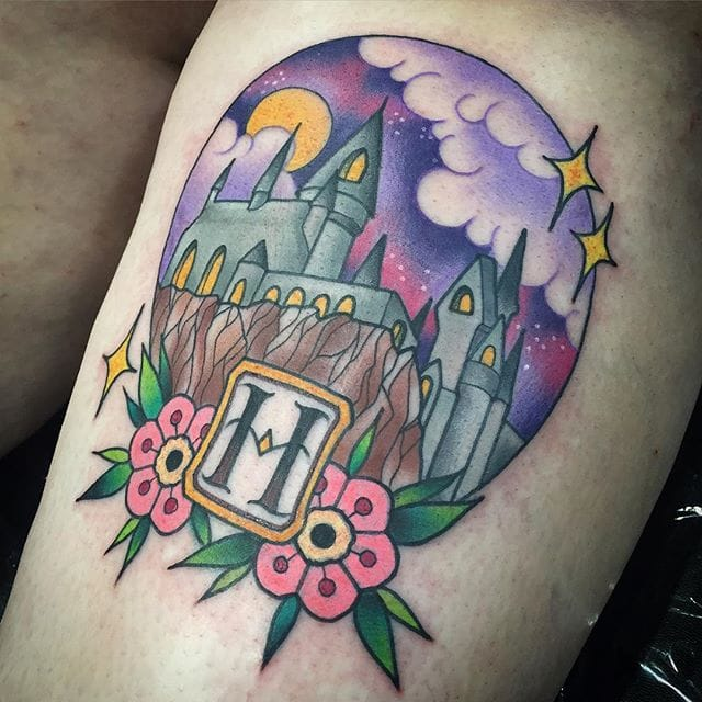 Hogwarts Tattoo by Carly Baggins