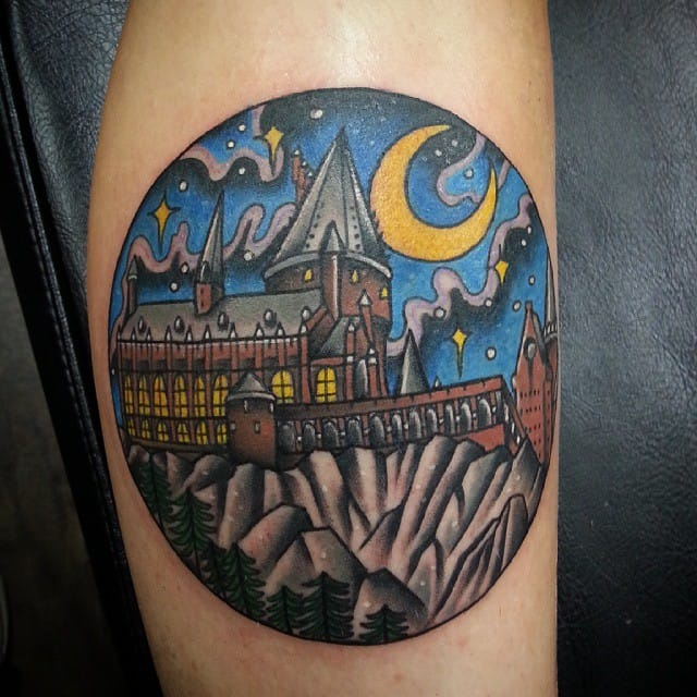 Hogwarts Tattoo by Chloe O'Malley