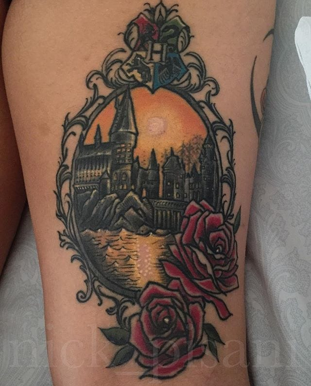 Hogwarts Tattoo by Nick Pisani