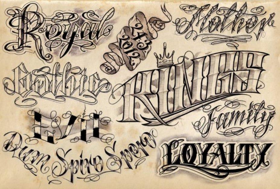 Best Fonts For Tattoos Tattoodo
